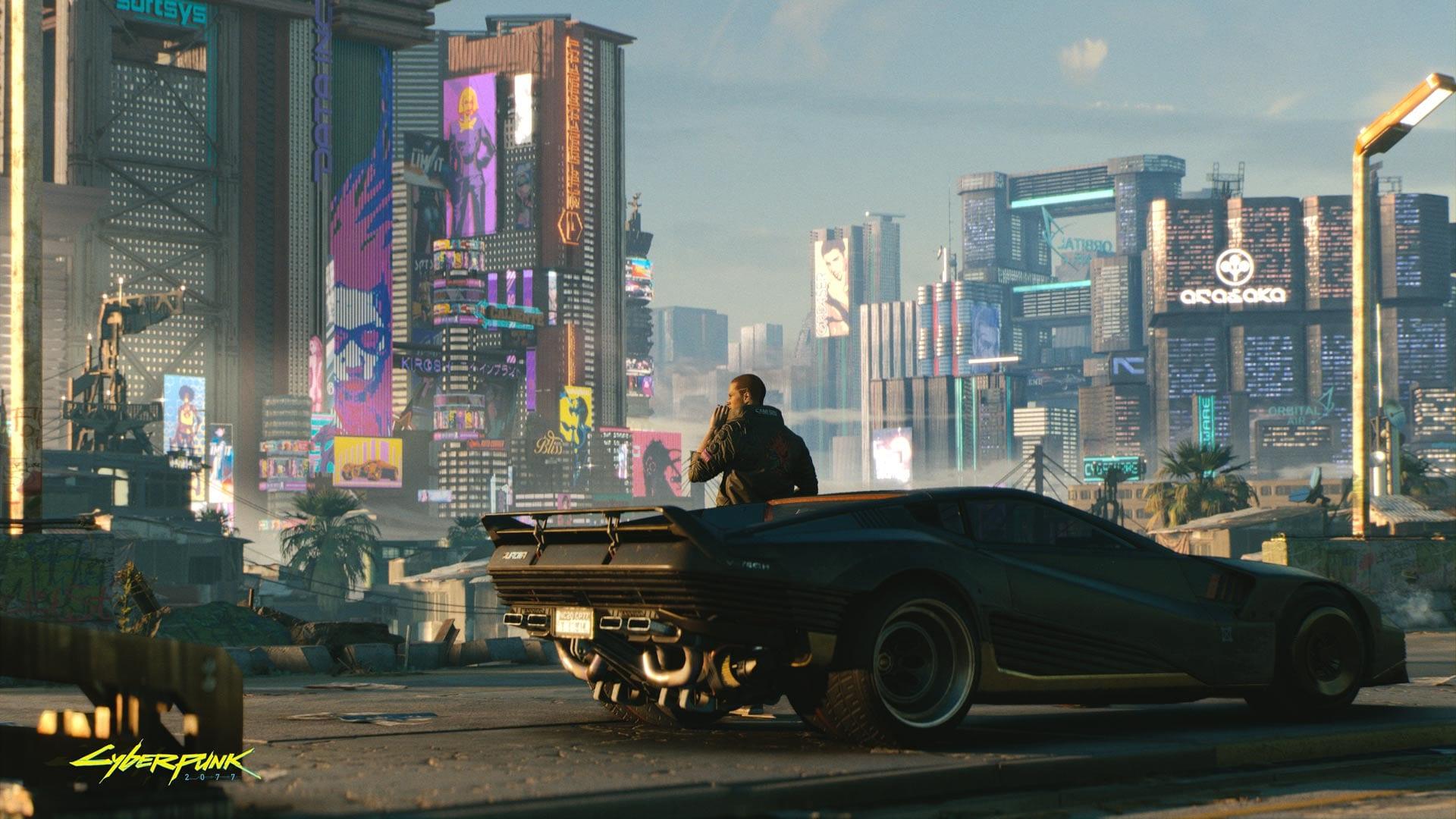 Cyberpunk 2077 Ausblick Night City