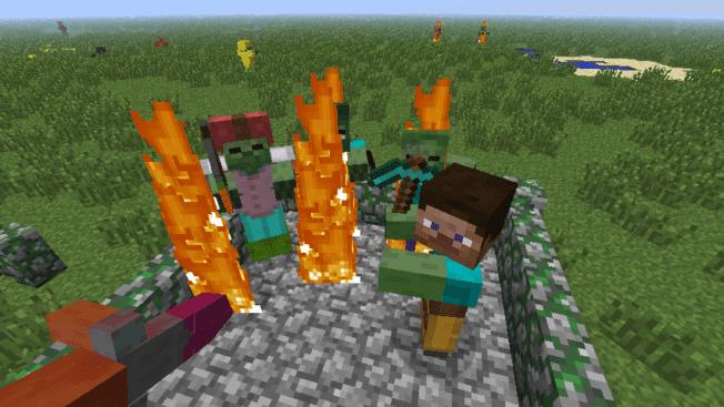 Minecraft Redstone Update: Zombies und Skelette