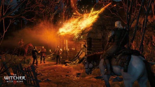 The Witcher 3: Wild Hunt Brennende Hütte