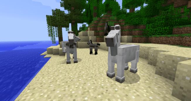 Esel und Maultiere in Minecraft