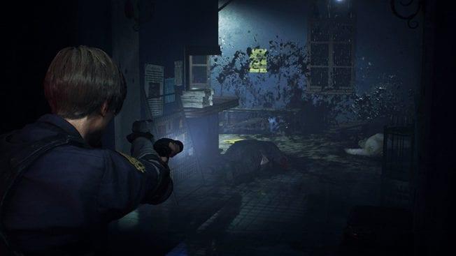 Resident Evil 2 Leon und Zombies