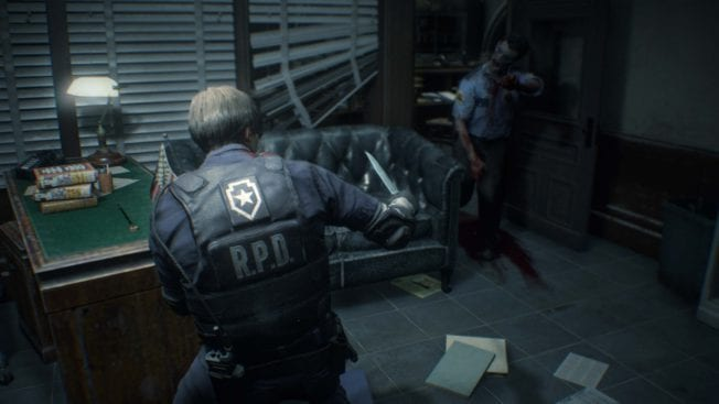Resident Evil 2 Leon S. Kennedy im Standard-Outfit