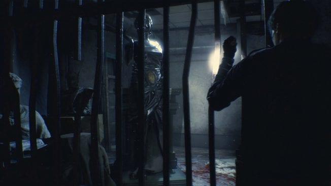 Resident Evil 2 Reporter hinter Gittern