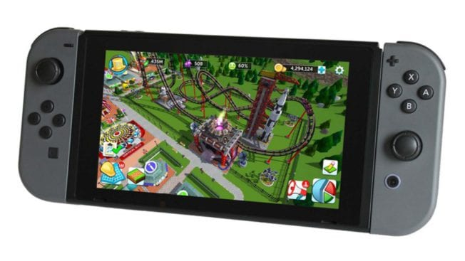 RollerCoaster Tycoon auf Nintendo Switch