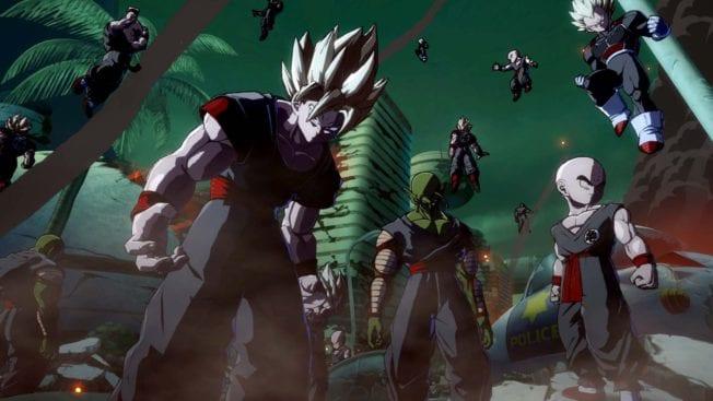 Dragon Ball FighterZ: Klone Story-Modus.