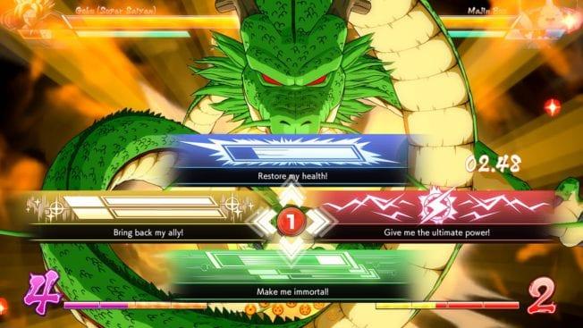 Shenlong rufen in Dragon Ball FighterZ