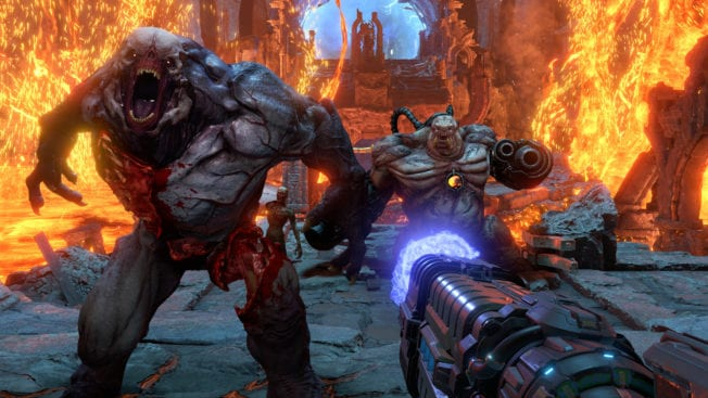 DOOM Eternal: Hellknight und Mancubus