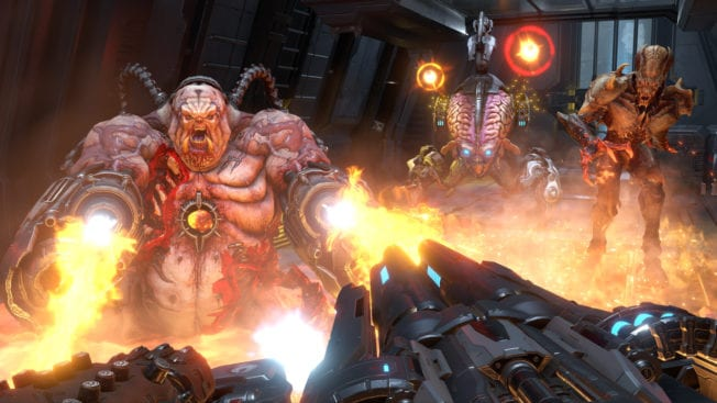 DOOM Eternal: Spiderdemon und Mancubus