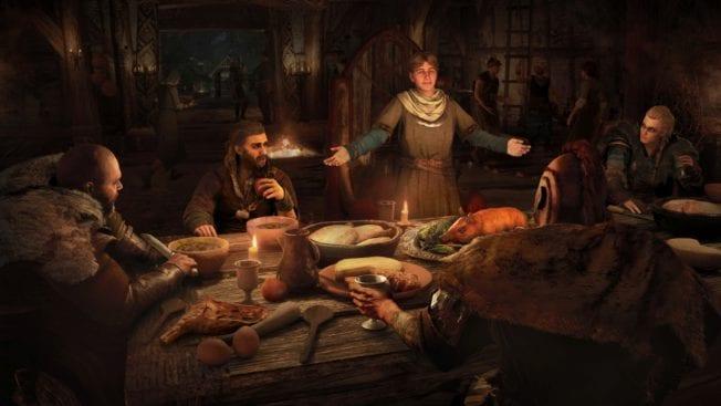 Assassin's Creed Valhalla Wikinger Abendessen