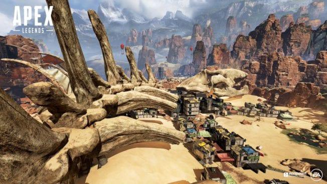 Wüstenareal in Apex Legends