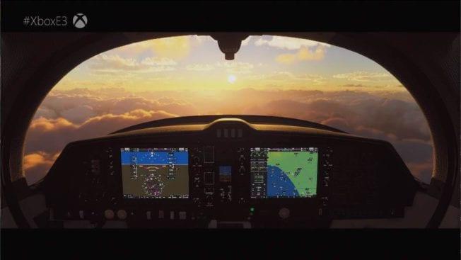 Der Flight Simulator sieht gigantisch aus.