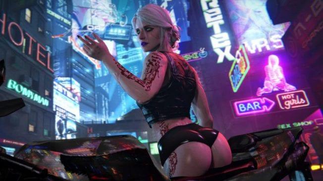 Ciri in Cyberpunk 2077