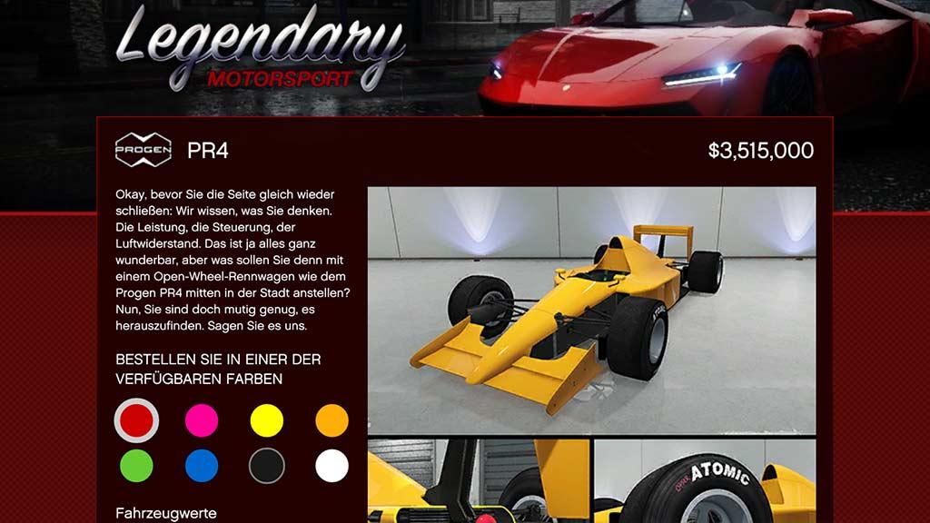 Progen PR4 GTA Online