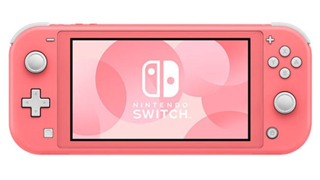 Nintendo Switch in der Farbe Coral