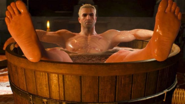 The Witcher 3 Geralt in der Badewanne