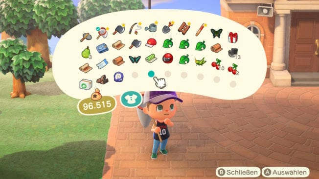 Animal Crossing: New Horizons Inventar