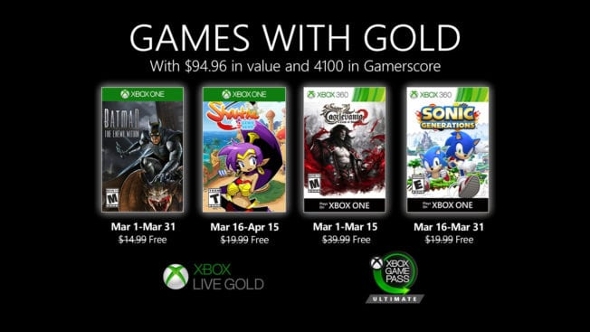 Games With Gold März 2020