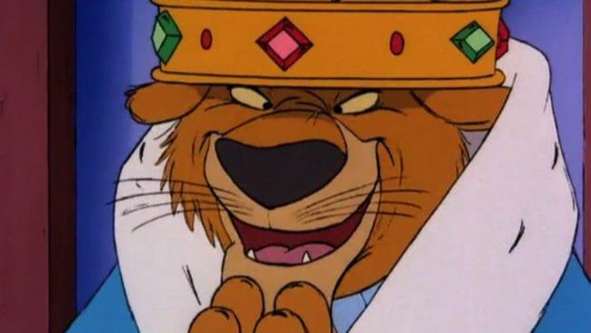 Robin Hood und Bösewicht Prinz John