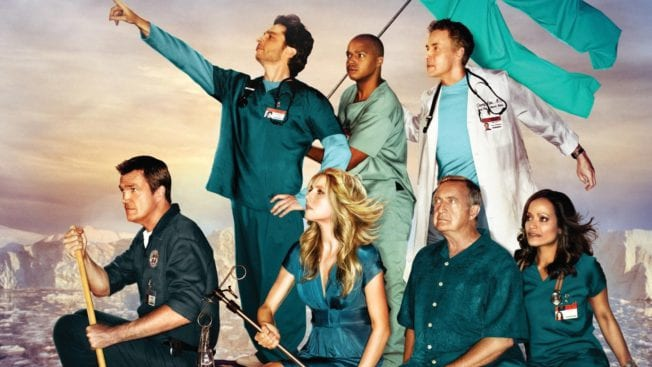 """Der brandneue Podcast zu Scrubs """"Fake Doctors, Real Friends""""."""