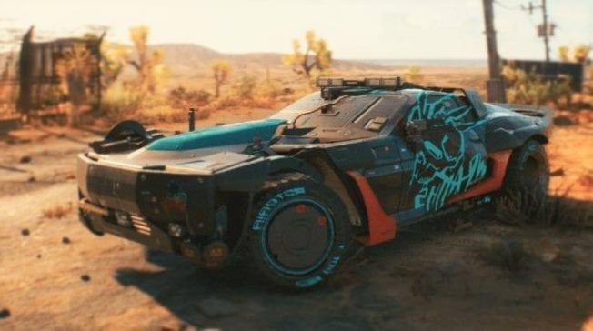 Mad Max und Cyberpunk 2077 in einem Fahrzeug vereint