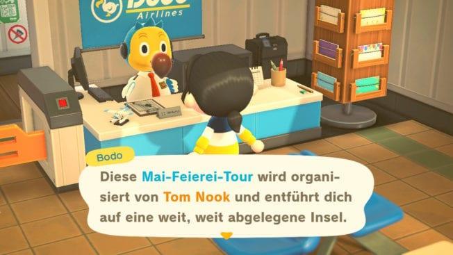 Heute ist Mai-Feierei in Animal Crossing New Horizons
