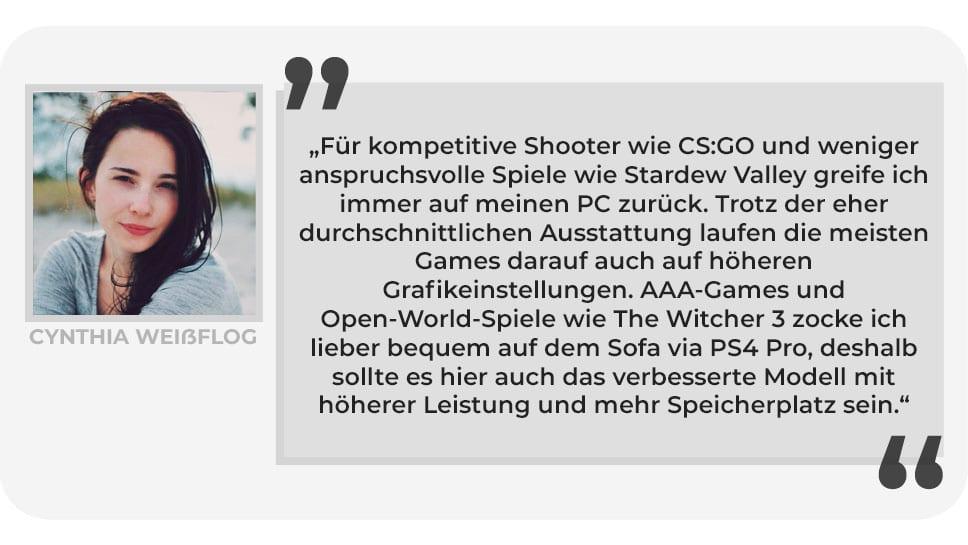 Cynthia Weißflog Gaming Setup PlayCentral