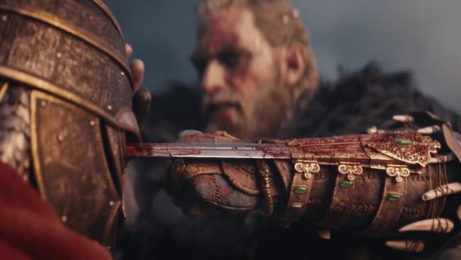 Eivor und seine Verstecke klinge in Assassin's Creed Valhalla