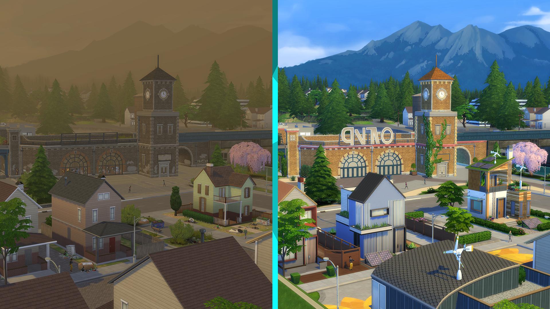 Evergreen Harbor verändert sich in Die Sims 4 Nachhaltig leben