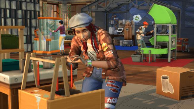Die Sims 4 Nachhaltig leben Vertikaler Garten Upcycling