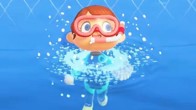 Animal Crossing New Horizons Tauchen Schwimmen