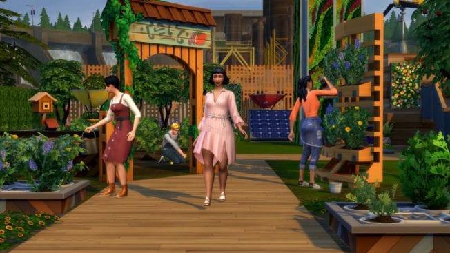 Die Sims 4 Nachhaltig leben Cheats Gemeinschaftsflächen