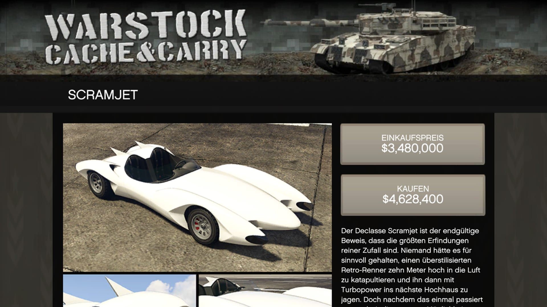 GTA Online Scramjet im Überblick