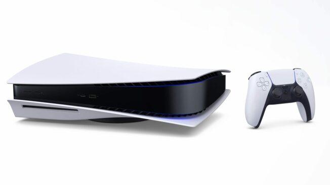 PS5 mit Blu-ray-Laufwerk liegend