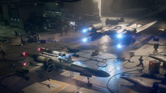 Star Wars Squadrons Hangar mit X-Wing