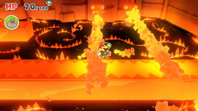 Paper Mario Origami King Feuer Dungeon