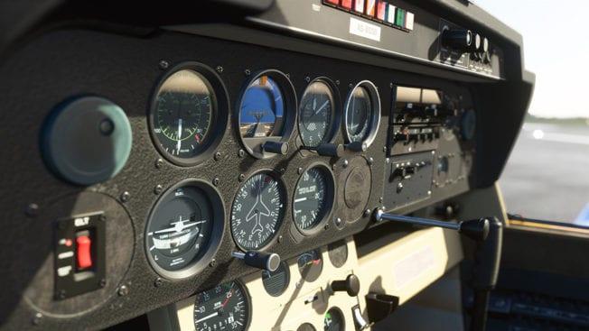 Microsoft Flight Simulator Flugzeug im Cockpit