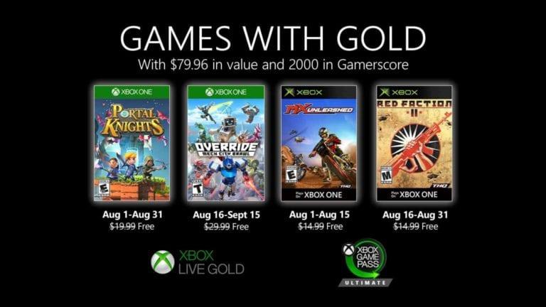 Games with Gold für Xbox im August 2020