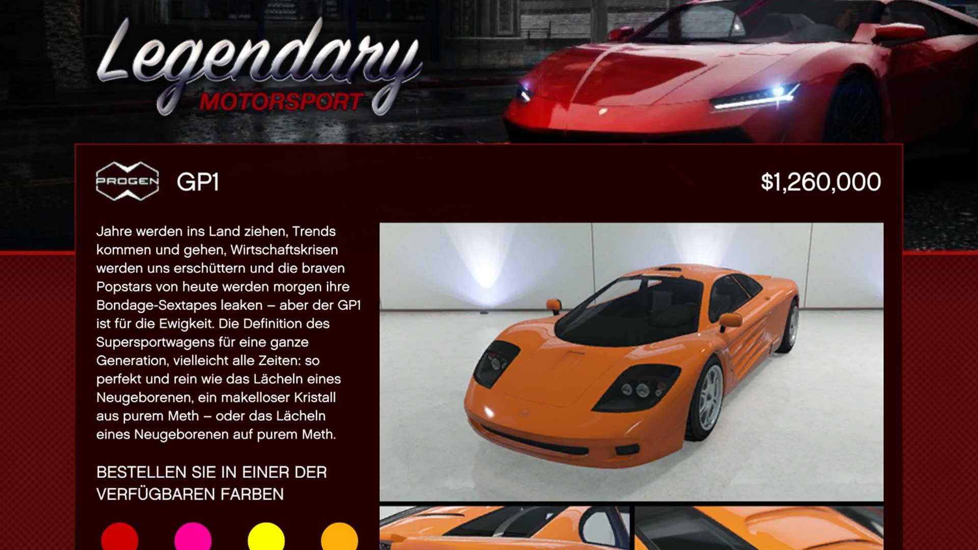 GTA Online - Progen GP1