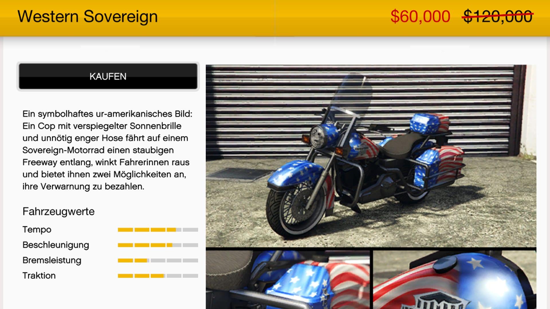 GTA Online Motorrad Western Sovereign