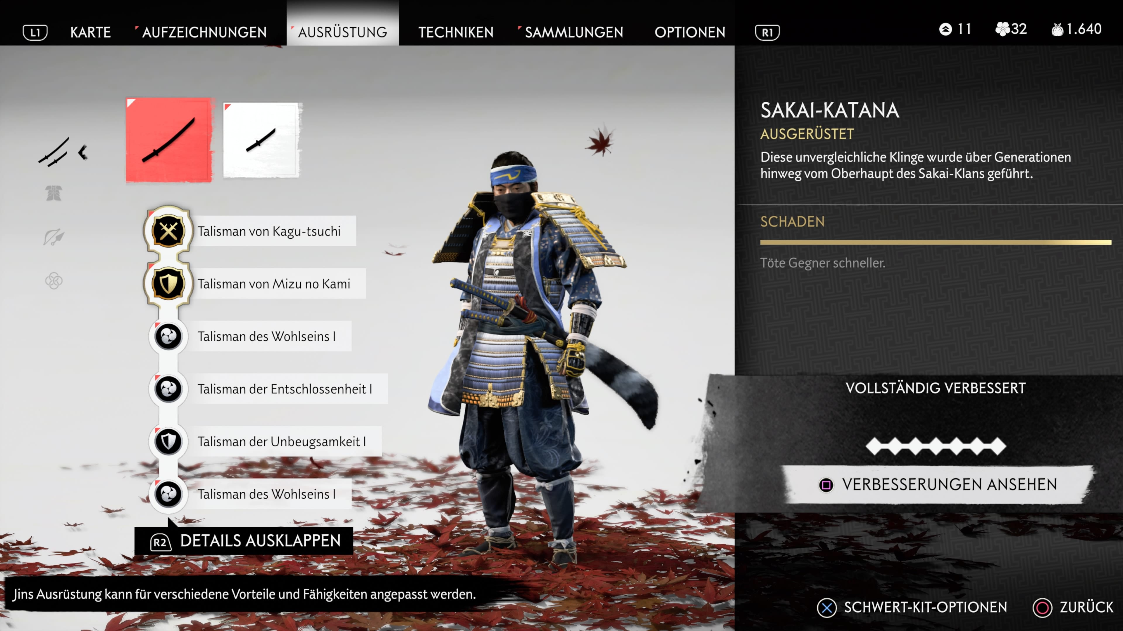 Sly Cooper Outfit in Ghost of Tsushima