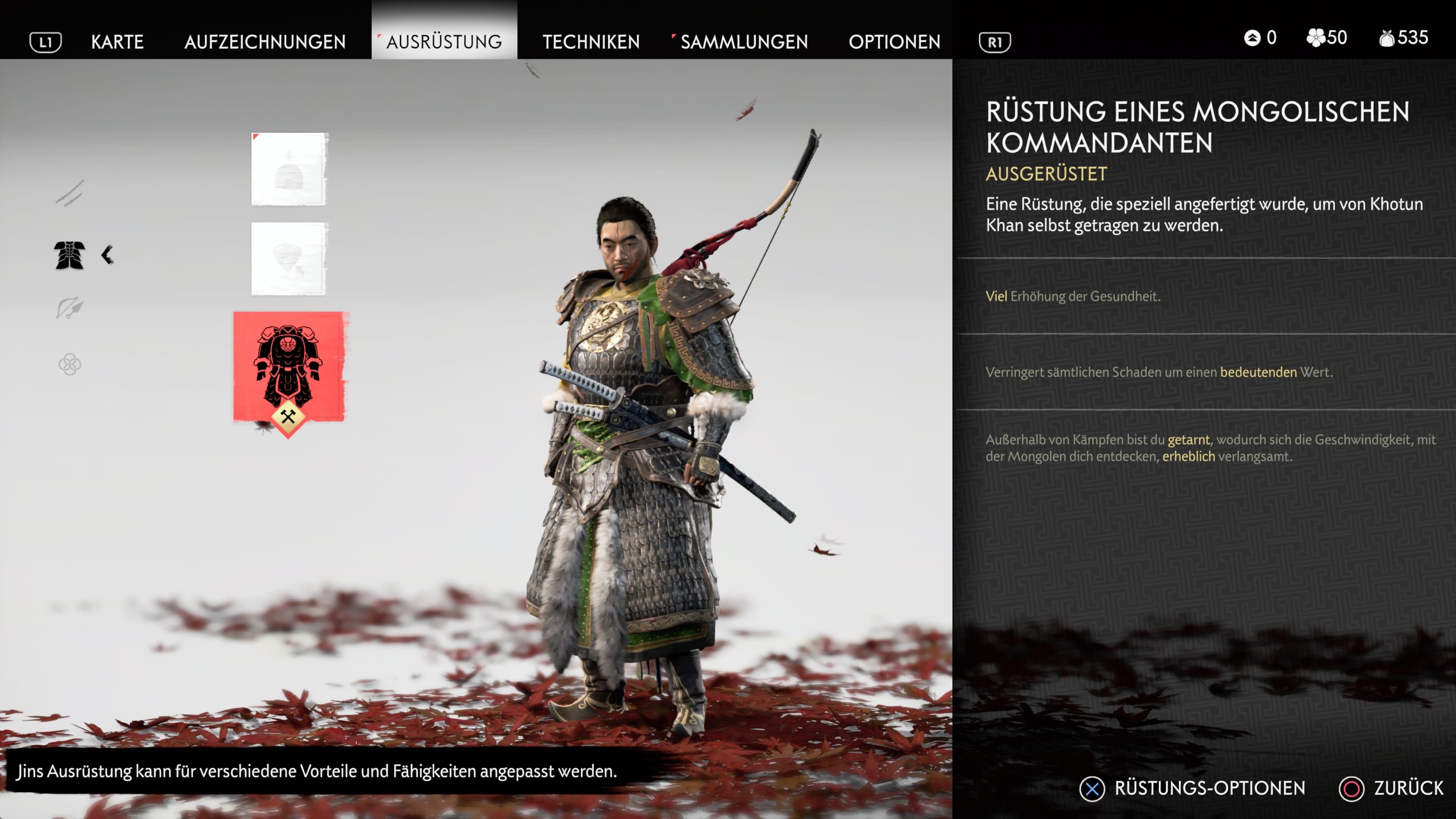 Ghost of Tsushima Rüstung mongolischer Kommandant