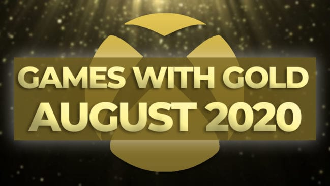 Xbox Games with Gold August 2020