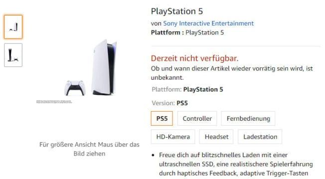 Keine Digital-PS5 Amazon