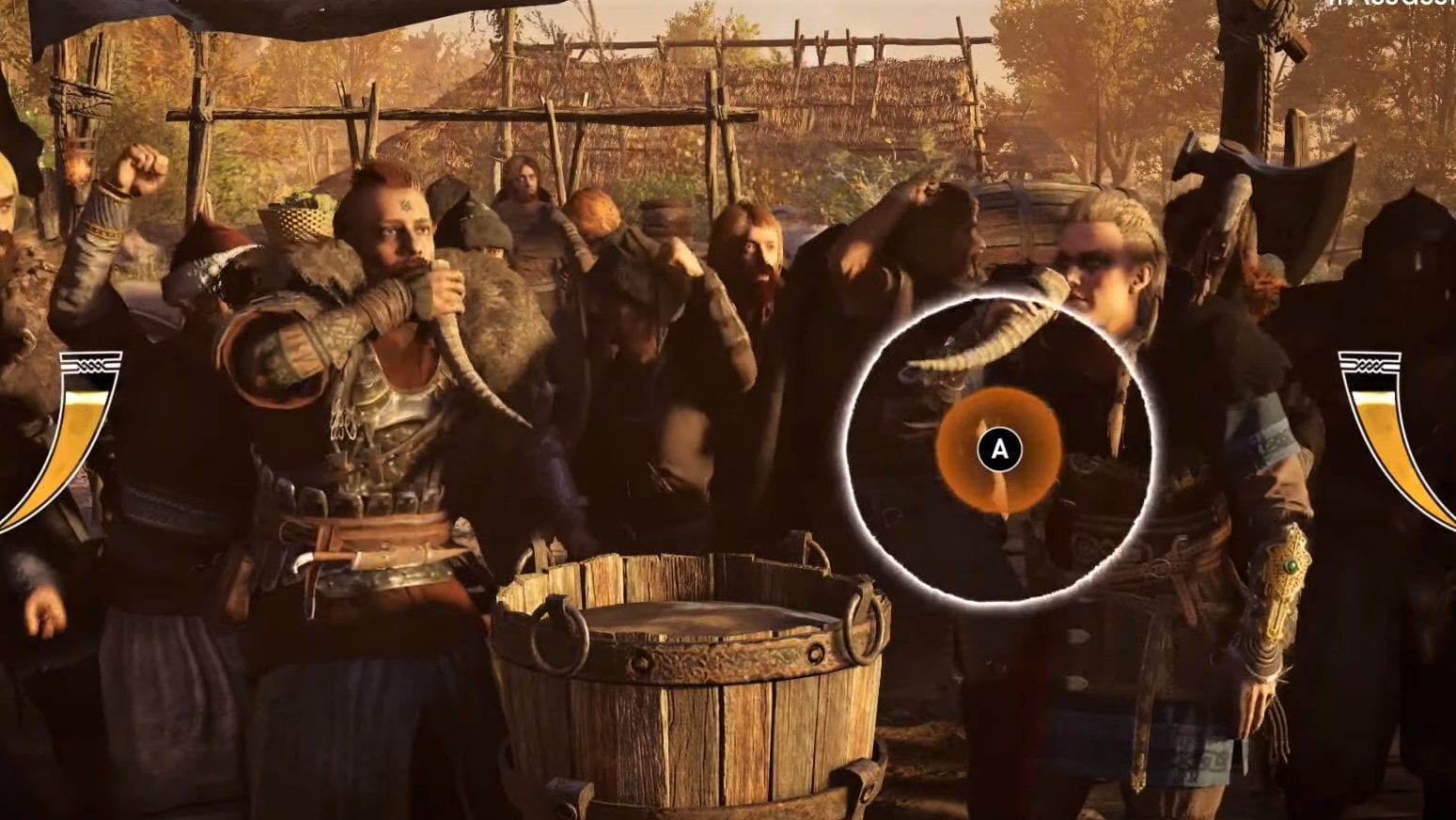 Assassins Creed Valhalla Wettrinken