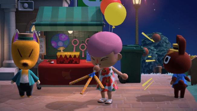 Animal Crossing new Horizons Update Feuerwerk 1.4.0