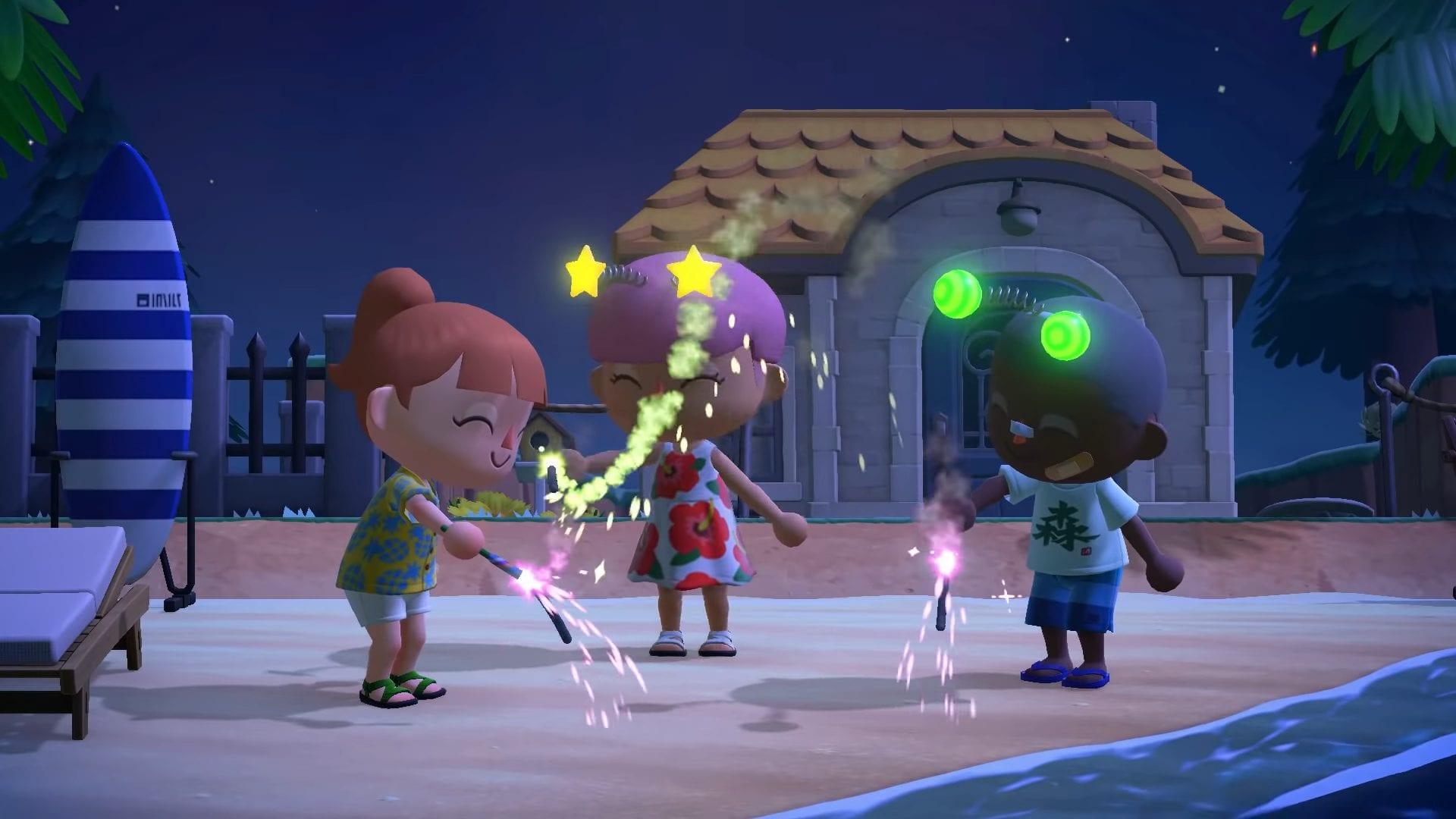 Animal Crossing New Horizons Update Feuerwerk