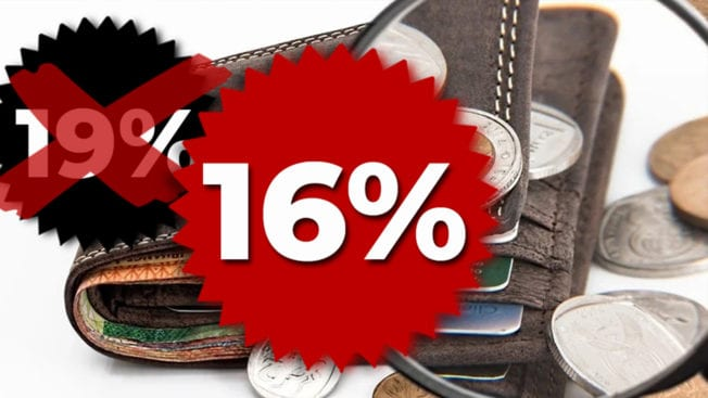 Senkung der Mehrwertsteuer