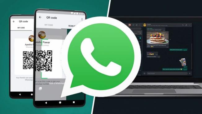 WhatsApp Dark-Mode PC und QR-Code 2