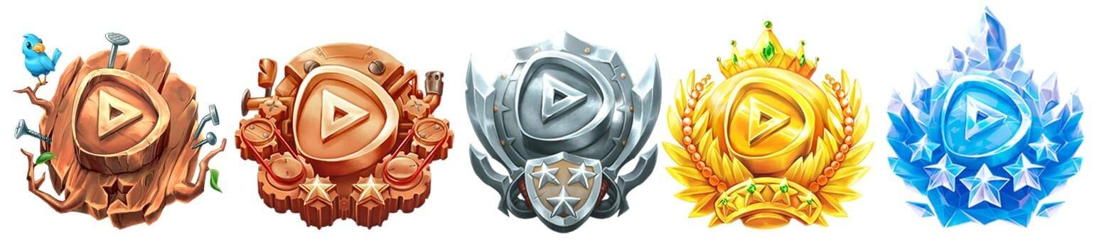 Alle PlayCentral-Awards, von Holz bis Diamant