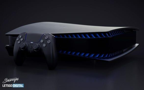 PlayStation 5 und DualSense in Schwarz
